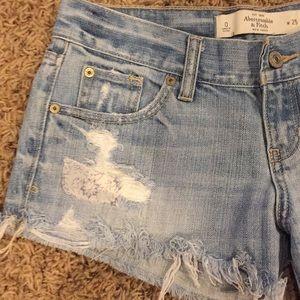 Abercrombie & Fitch Shorts - Denim Cutoffs Size 25/0